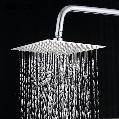 12 Inch 304 Stainless Steel Square Rainfall Shower Head 2141090 2016 – $50.39