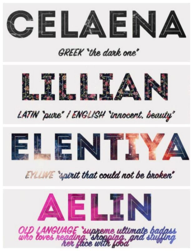 All of Celaena's different names and their meaning