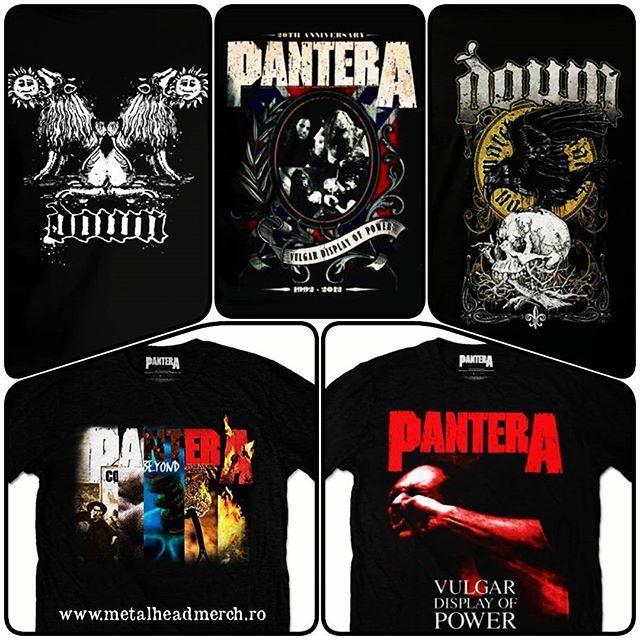 Pantera & Down www.metalheadmerch.ro Tricouri cu licenta oficiala. #romania #pantera #down #tricou #tricouri
