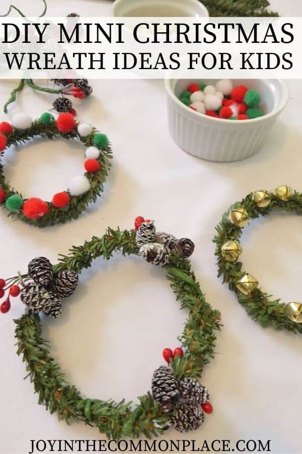 Diy Mini Christmas Wreath Ideas For Kids Christmas Activities For Kids Christmas Wreaths Christmas Projects For Kids
