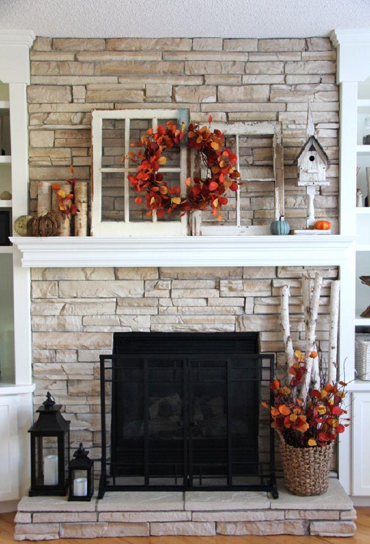 25+ best Fall fireplace decor ideas on Pinterest