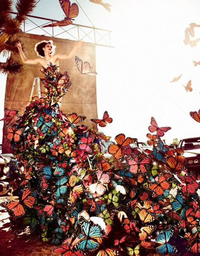 Sadie once told me about her 'rose' theory, and when she's feeling anxious she imagines a wall of roses protecting her for the bad energy.  I decided to pick butterflies.  Warrior butterflies with swords who chop us the bad feelings.  I also have giant wings for a shield.