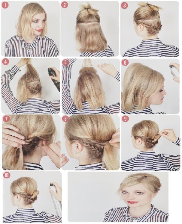 17 Best ideas about Chignon Cheveux Court on Pinterest | Coiffure ...