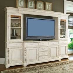 Paula Deen Entertainment Wall Unit - Linen Finish