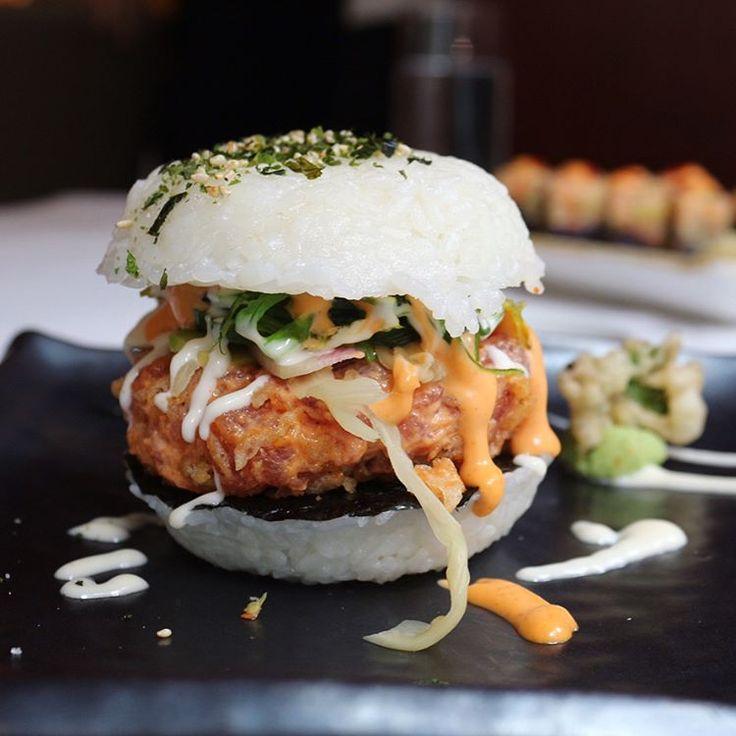 Sushi Burger Location: Redeye Grill, NYC