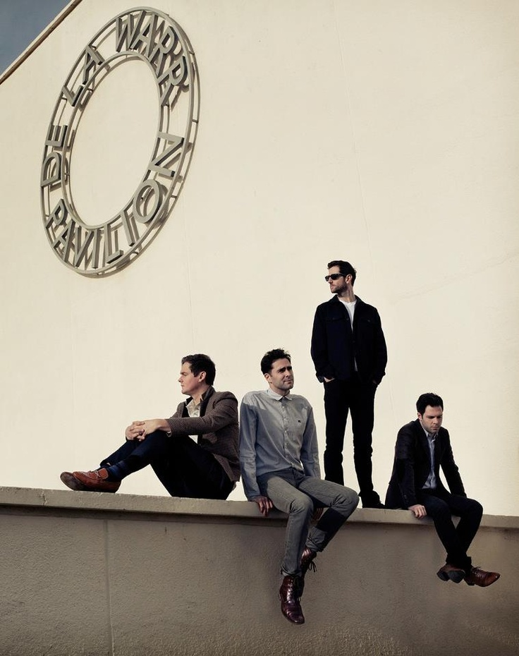 Keane. Left to right: Tom Chaplin, Tim Rice-Oxley, Richard Hughes, and Jesse Quin.