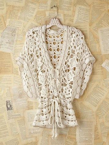 Vintage Metallic Crochet Sweater (metallic is tiny edging that outlines some motifs) $198