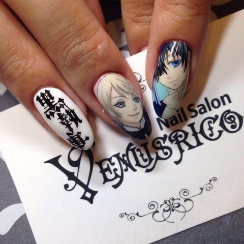 黒執事 : Character nail art. Kawaii nails. - Best 25+ Kawaii Nail Art Ideas On Pinterest Kawaii Nails, Nail