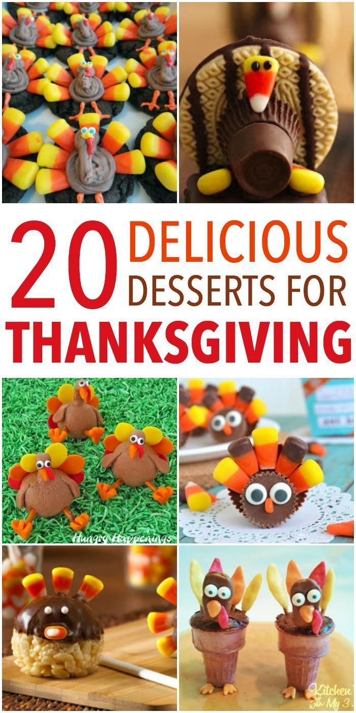 20 of the Best Thanksgiving Fun Food Desserts! #thanksgiving #thanksgivingdessert