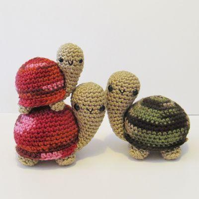 NEW Amigurumi Tortoises crochet pattern  PDF by Ana Paula Rimoli <3