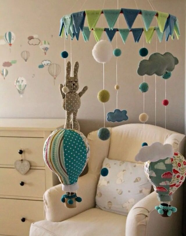 Monila Handmade Mobiles hot air ballon