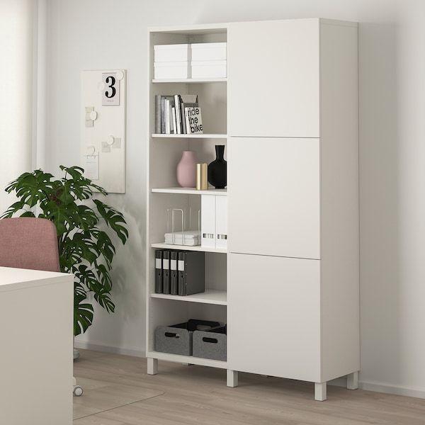 Besta Storage Combination With Doors White Lappviken Stubbarp White 47 1 4x16 1 2x79 1 2 Ikea 12x79 14x16 Be In 2020 Gastezimmer Einrichten Ikea Weisse Turen