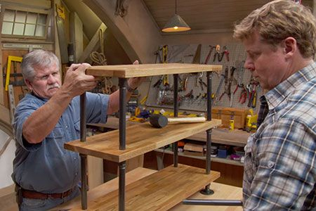 with Ask This Old House general contractor Tom Silva | thisoldhouse.com | from Build It | Black Pipe Bookshelf