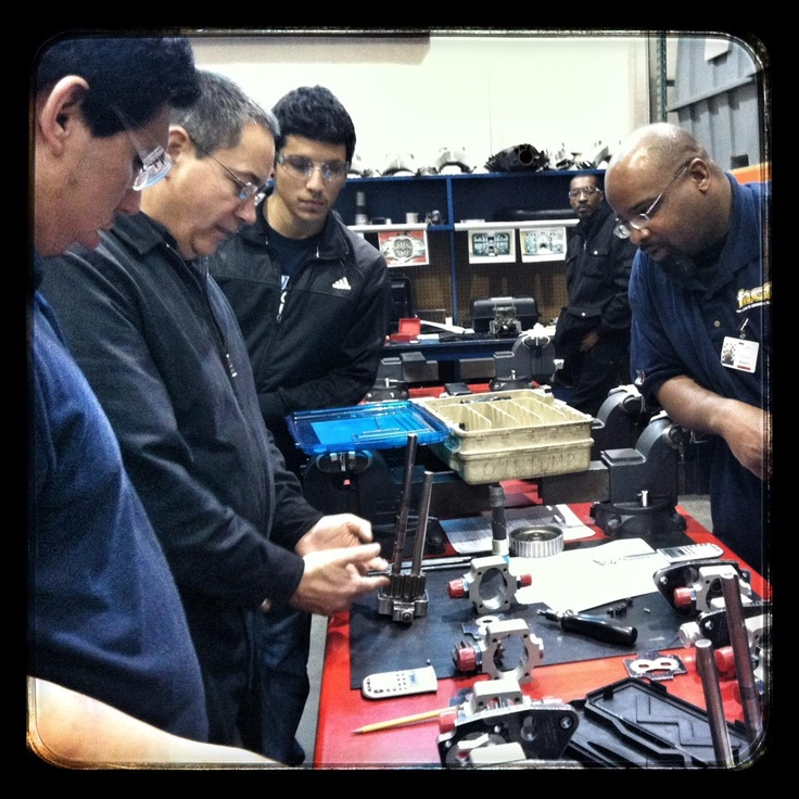 Students working hard at NTI!  At NASCAR Tech you'll learn racing engines, chassis, body, aerodynamics, fabrication and pit crew. www.uti.edu