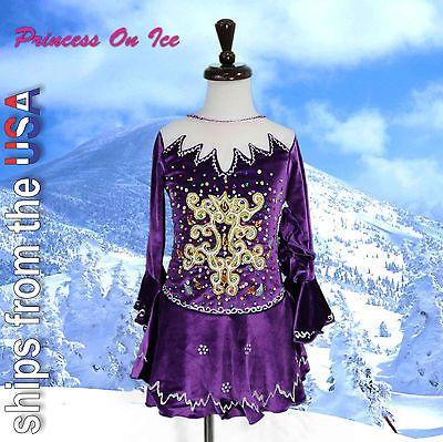 Skating Dresses-Girls 21226: Child Large New Figure Ice Skating Dress Baton Twirling Dance Usa Seller -> BUY IT NOW ONLY: $49.98 on eBay!
