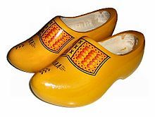 "Klomp - Whole foot clogs make the complete shoe out of wood, such as the familiar Dutch klomp. They are also known as ""wooden shoes"""