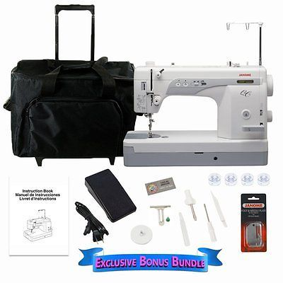 Рriсе - $1,608.95. Janome 1600P-QC Sewing/Quilting Machine Bundle With Rolling Trolley, Electric ( Brand - Janome, MPN - SVD1600PQCBONUSBUNDLE, UPC - Does not apply    )