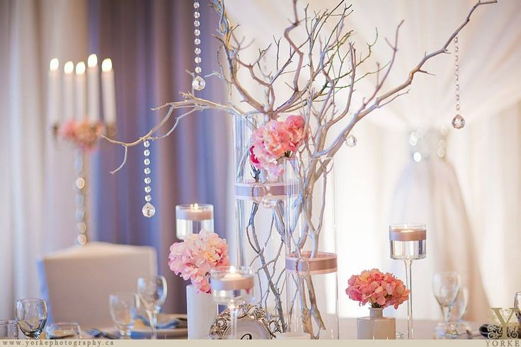 Stylish centrepiece design | Moncton Wedding Decor | Unico Decor