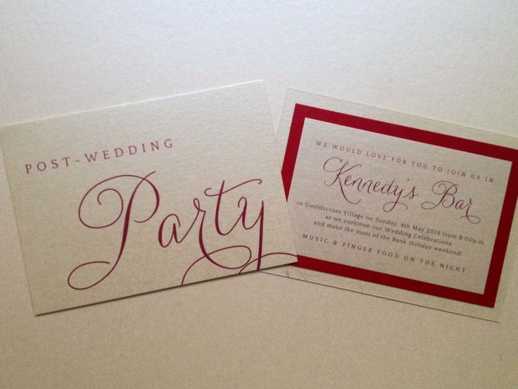 next day party card red ivory