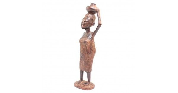 Statueta decorativa africana - femeie Bobo - lemn de abanos - Burkina Faso