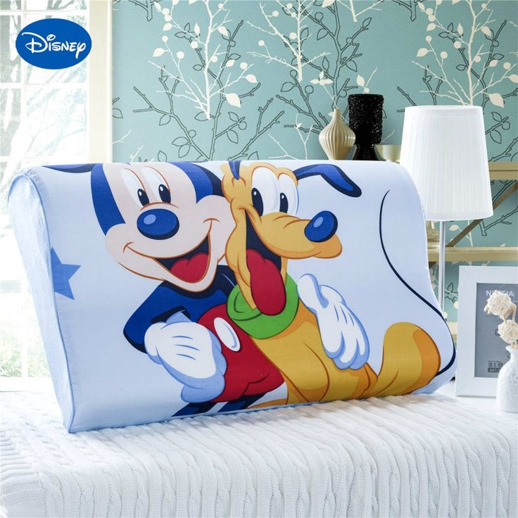Bright Colored Mickey Mouse Goofy Memory Pillows 50x30cm Bedroom Decoration Boy's Home Bedding Slow Rebound Wave Foam Sleeping #Affiliate