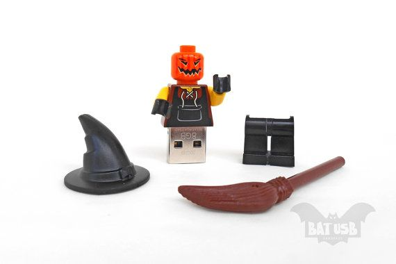 BAT™ 8/16/32/64GB USB flash drive - Memory Stick - Lego® original Minifigure - Halloween Zombie Monster Pumpkin Scarecrow - With legs cap by Think4HandmadeArt, €40.00