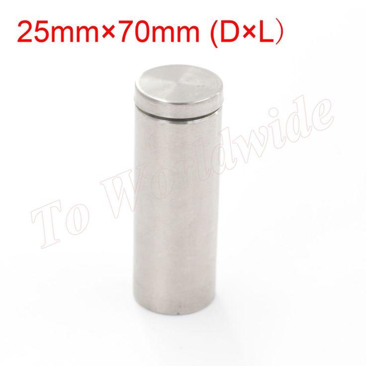 Advertising Nails 25mm x 70mm Glass Standoff Stainless Steel Bolts  EUR 12.75  Meer informatie  http://ift.tt/2dhPtAv #aliexpress