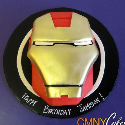 Ironman Shaped Edible Cake Image Photo more at Recipins.com