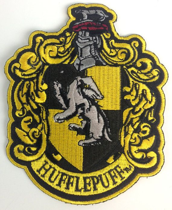 Harry Potter Hufflepuff Patch  UK Imported  Join Hogwarts! A great gift to the greatest School in the world! Patch is 4 1/2 Iron-On (No sewing