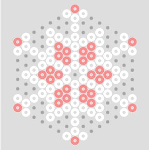Pastel Hama Bead Snowflake Patterns | BeadMerrily Hama Bead Designs