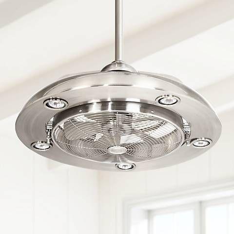 Possini euro segue 24 w brushed nickel 5 light ceiling fan