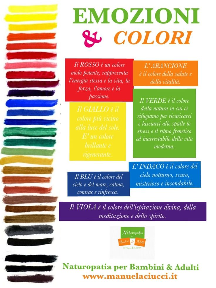 I colori e le emozioni