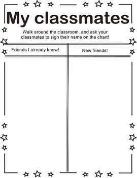 Great First day of School warm up activity - love this - go around and ...