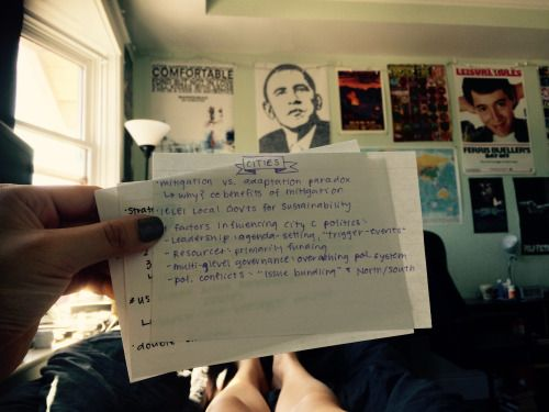 """music-and-other-vices: """" Study cards location: bed """""""