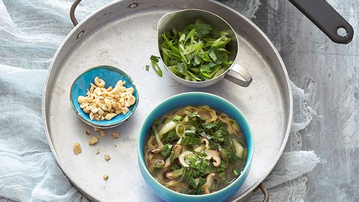 For such a quick soup, this one is darned satisfying. Thanks to the bold flavors of ginger, lime, soy sauce and cilantro—and the intriguing flavor of one of my favorite greens, bok choy—the soup packs a punch without much fuss.