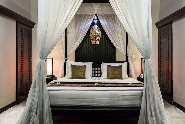 Bali Villa Photography - Ulin Villas - master bedroom night time lighting