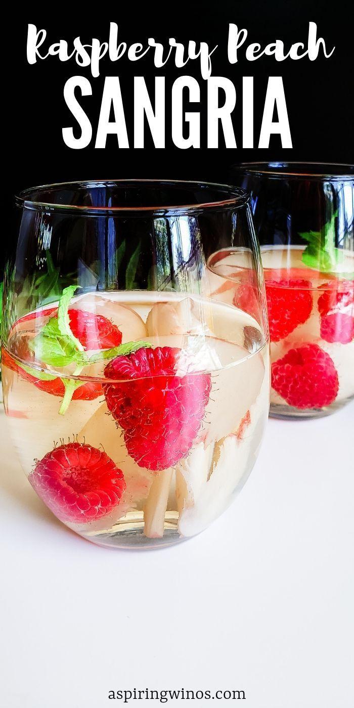 Raspberry Peach Sangria Choose Your Own Wine Peach Sangria Peach Sangria Recipes Sangria