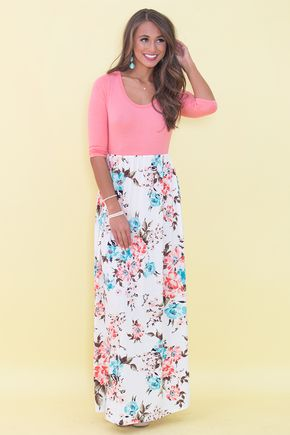 88cca56353f Everlasting Moments Floral Maxi Dress