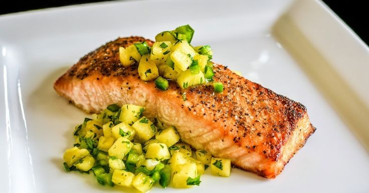 Broiled Salmon with Pineapple Salsa Recipe on Yummly. @yummly #recipe