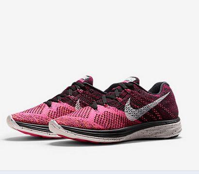 ac7bb2575b758 Hot Sell Nike Flyknit Lunar 3 698182 002 Pink Pow Total Orange Black Silver  Sneaker