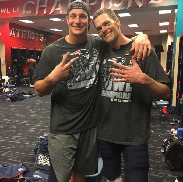 Rob Gronkowski -Gronk Page Liked · Yesterday ·     Best ever no questions asked! # 2 for me and # 5 for that guy!!