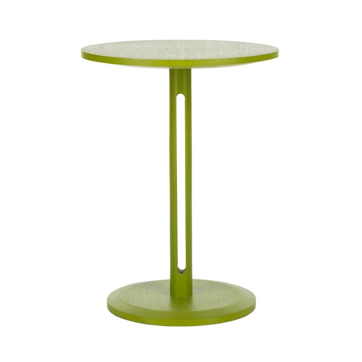 add a pop of color to the room with this unique side table