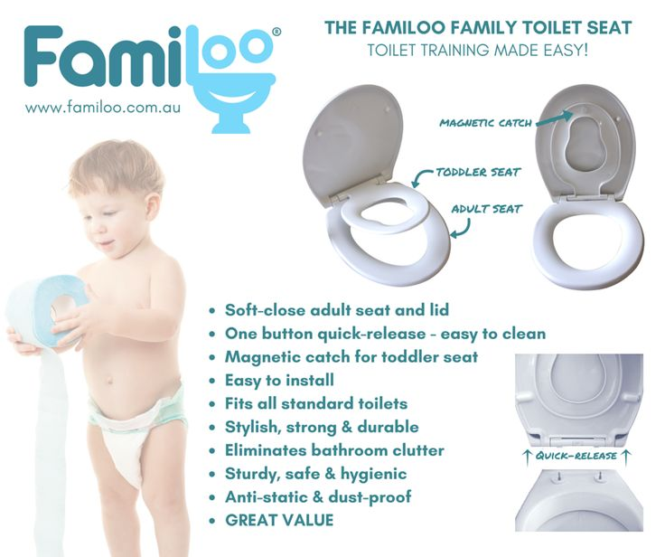 Introducing the Familoo Family Toilet Seat.  The only toddler toilet training seat you'll ever need; packed with features to make toilet training as easy as possible for you and your toddler.