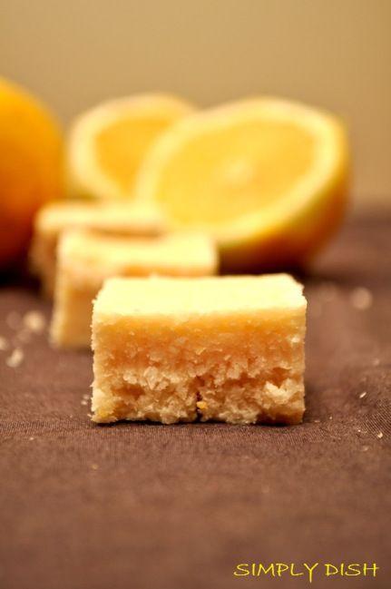 GF Lemon Coconut Squares - No Baking