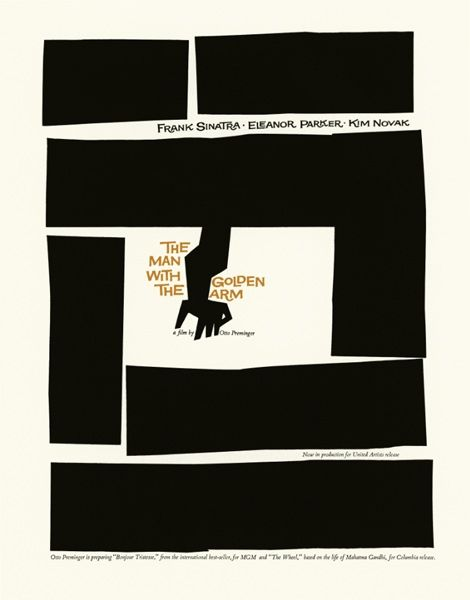 Saul Bass  1955 (The New York School) logo for The Man with the Golden Arm