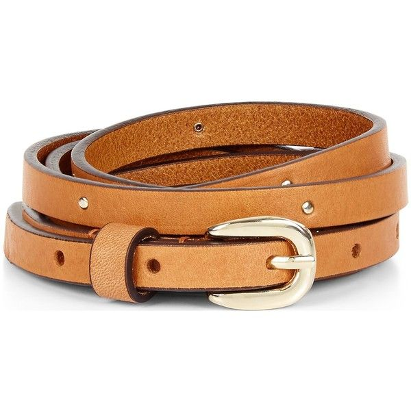 Hobbs Trina Belt (€51) ❤ liked on Polyvore featuring accessories, belts, tan leather belt, genuine leather belt, studded leather belt, hobbs and 100 leather belt