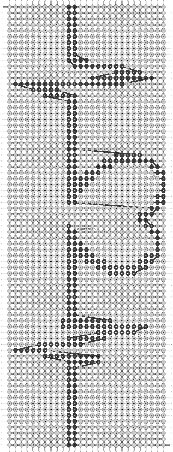 Love heart beat friendship bracelet pattern number 2231 - Fore more patterns and tutorials visit our web or the app!
