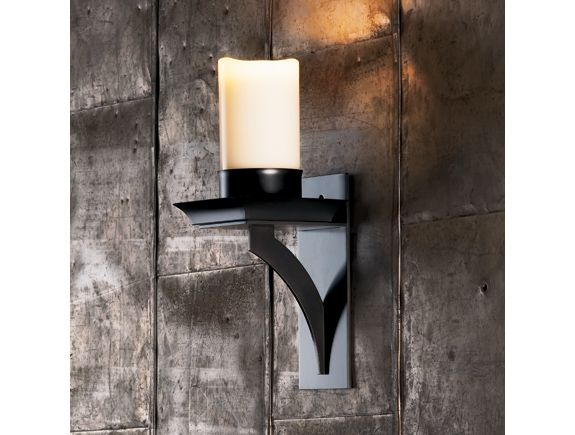 Fake Candle Wall Lights : Contemporary, faux candle wall sconce Sconces Pinterest Sconces, Candles and Hunt s