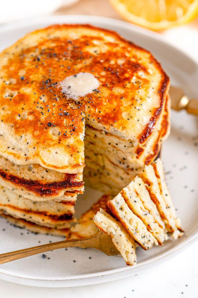 Lemon Poppy Seed Buttermilk Pancakes Aberdeen S Kitchen Recipe In 2020 Buttermilk Pancakes Lemon Poppyseed Pancakes Lemon Poppyseed