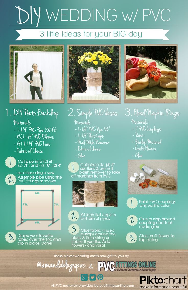 Some AWESOME DIY wedding ideas using PVC and other inexpensive